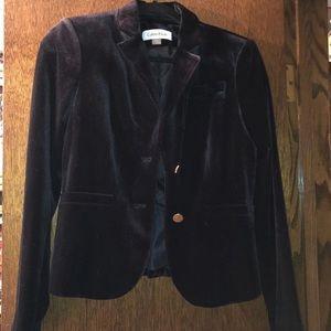 Calvin Klein velvet blazer